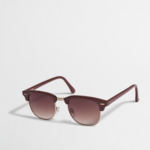 Factory retro-frame sunglasses