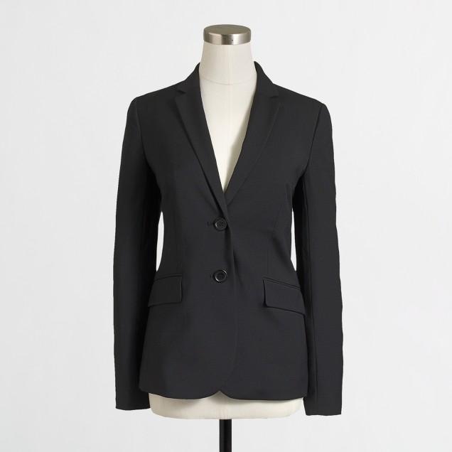 Petite suiting blazer in lightweight wool