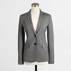 Factory suiting blazer in lightweight wool
