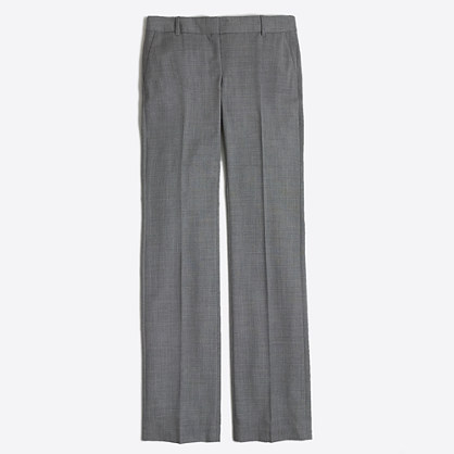 Petite suiting pant in lightweight wool