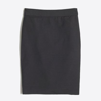 Petite pencil skirt in lightweight wool