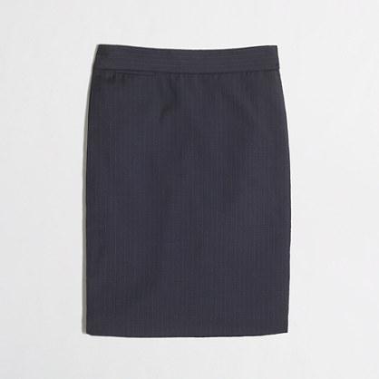 Pencil skirt in pinstripe wool
