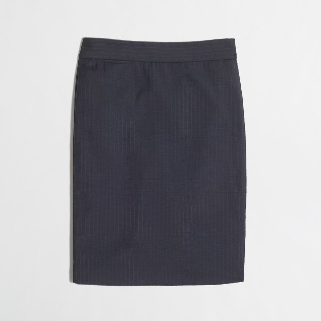 Pencil skirt in pinstripe wool