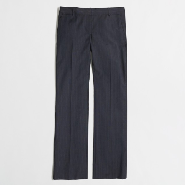 Suiting pant in pinstripe wool