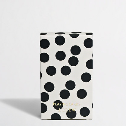 Factory polka-dot playing cards