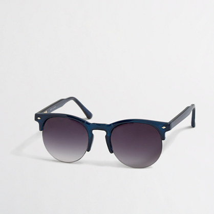 Factory translucent-frame sunglasses