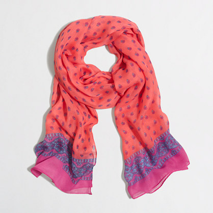 Factory paisley scarf
