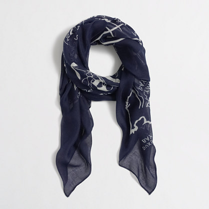 Factory map scarf