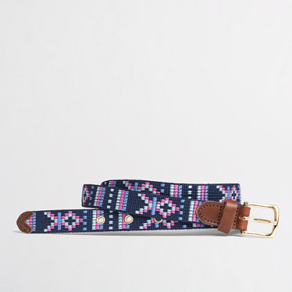 Factory geometric shapes web belt