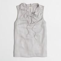 Factory ruffled neck cami