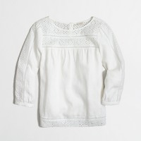 Factory eyelet peasant top