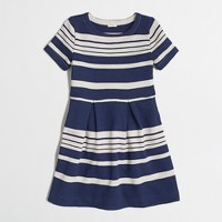 Factory girls' stripe sweatshirt dress