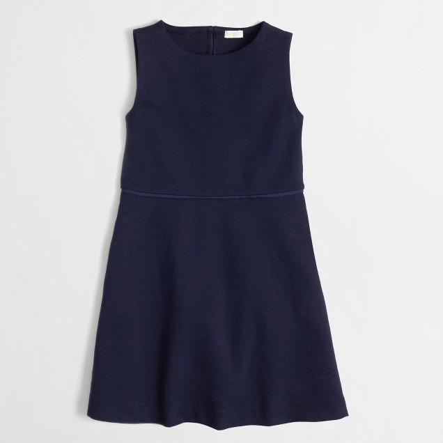 Factory girls' heart cutout dress