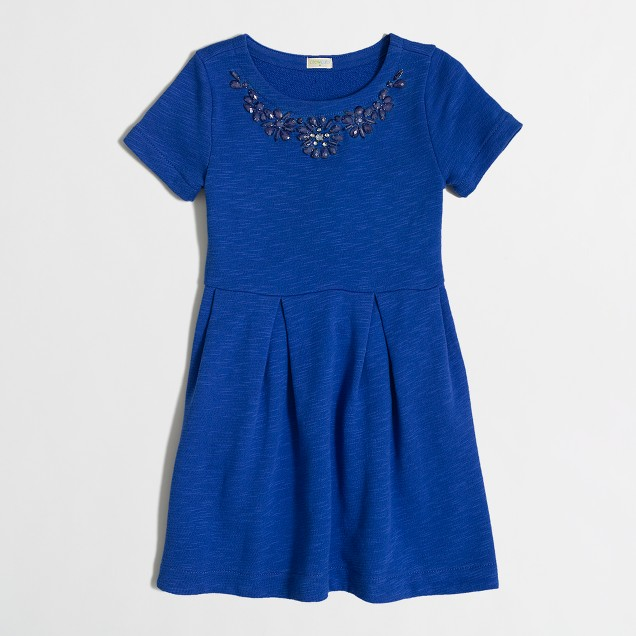 Factory girls' sweatshirt necklace dress