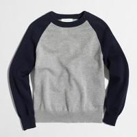 Boys' contrast baseball sweater