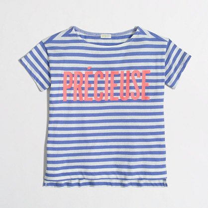 Factory girls' striped précieuse keepsake tee