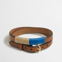 Factory leather belt-buckle bracelet
