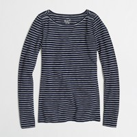 Long-sleeve artist boatneck T-shirt in stripe