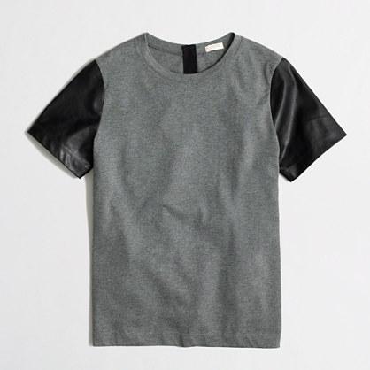 Factory leather-sleeve tee