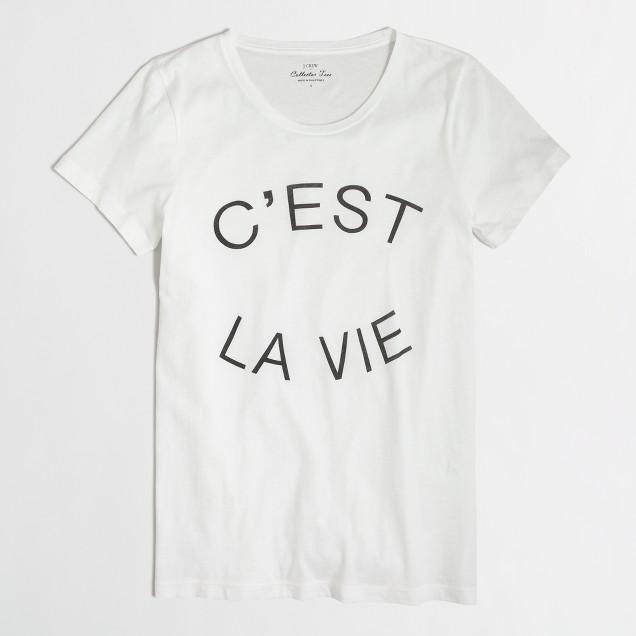 C'est la vie collector t-SHIRT