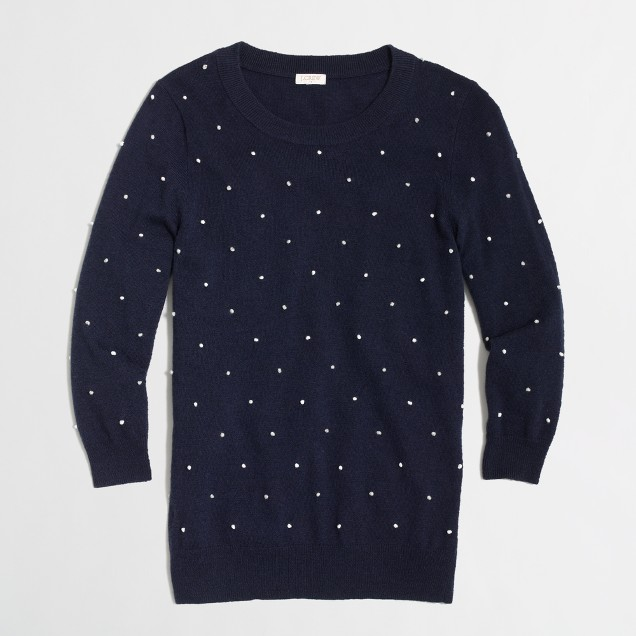 Factory warmspun french knot sweater