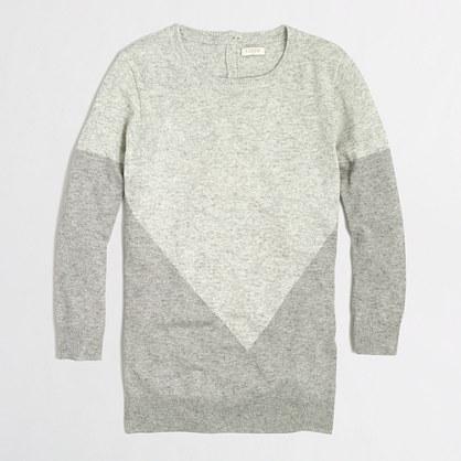 Factory warmspun intarsia colorblock sweater
