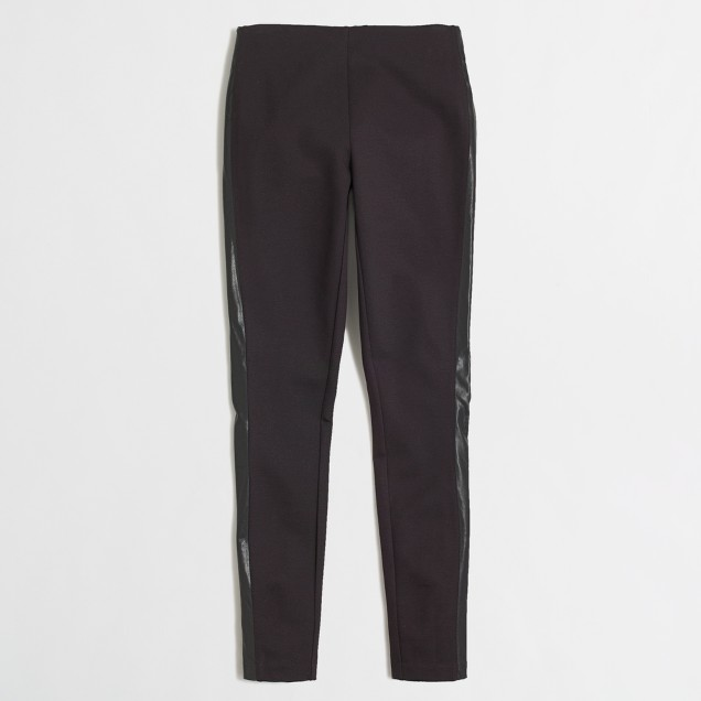 Factory leather-stripe Gigi pant