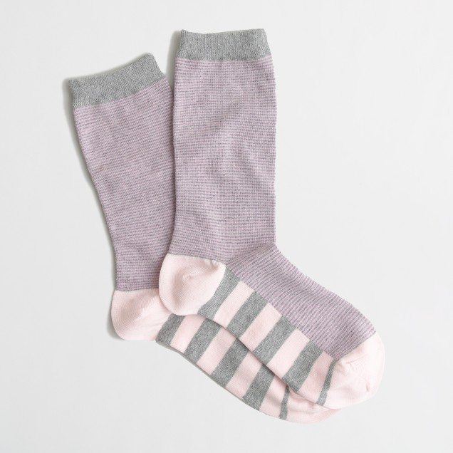 Factory stripe-sole trouser socks