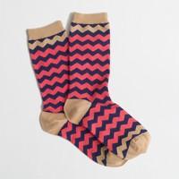 Factory chevron stripe trouser socks