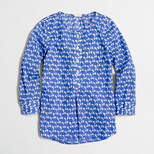 Girls' printed cotton tunic