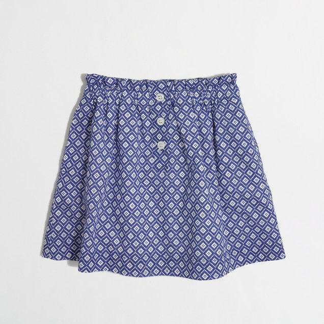 Girls' printed skirt