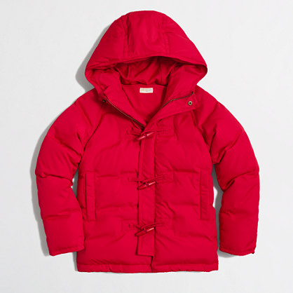 Factory kids' hooded parka