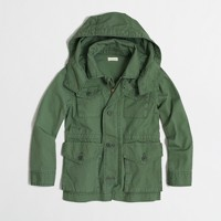 Factory boys' ripstop military jacket