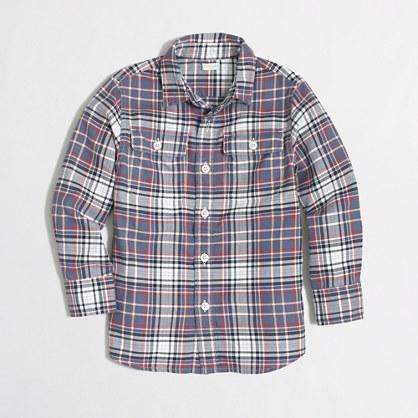 Factory boys' lightweight flannel workshirt