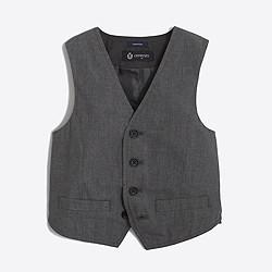 Boys' Thompson suit vest in grey
