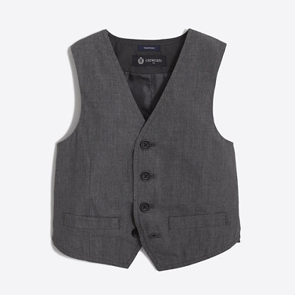 Boys' Thompson suit vest in heather grey