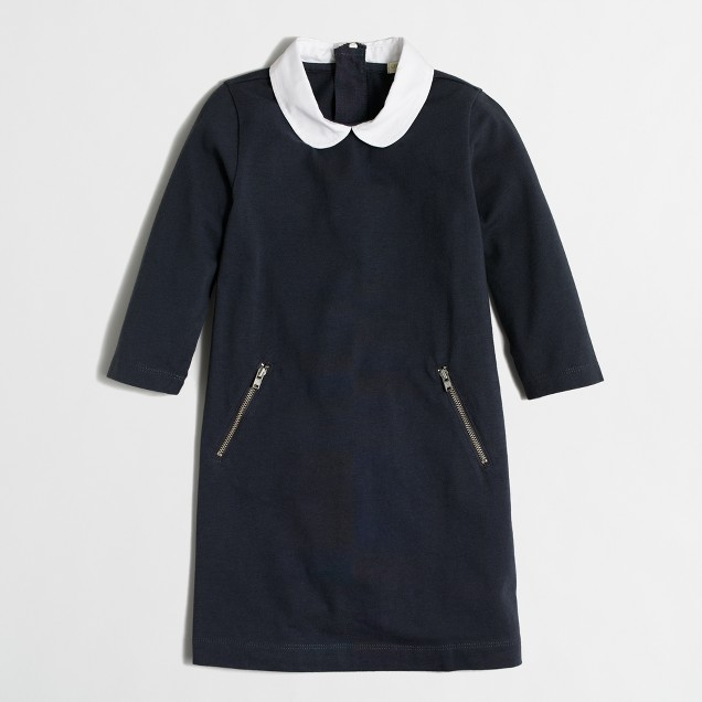 Girls' Peter Pan collar dress