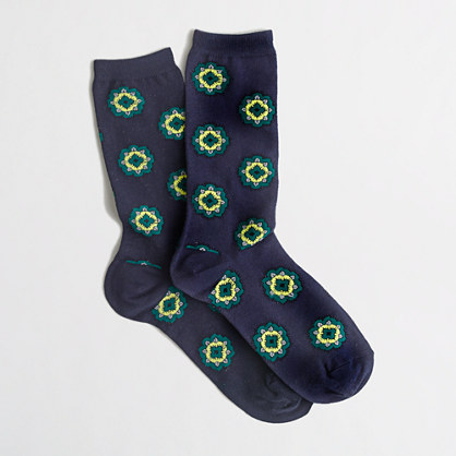 Factory paisley trouser socks