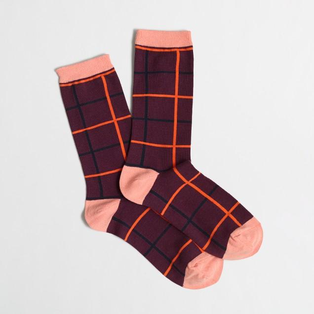 Factory tattersall trouser socks