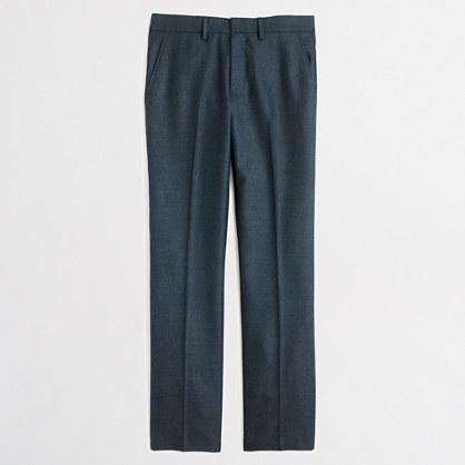 Slim wool Bedford dress pant