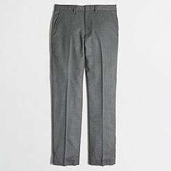 Slim wool Bedford dress pant