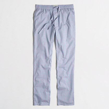 Factory blue plaid sleep pant