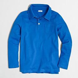 Boys' long-sleeve polo shirt