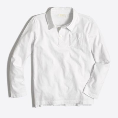 Boys' long-sleeve polo shirt