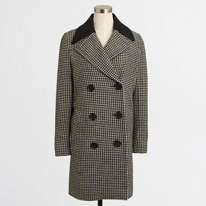 Factory midlength houndstooth coat