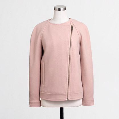 Factory cropped zipper jacket