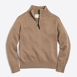 Boys' half-zip popover sweater