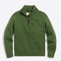 Boys' half-zip popover sweater