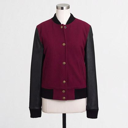 Factory varsity bomber jacket
