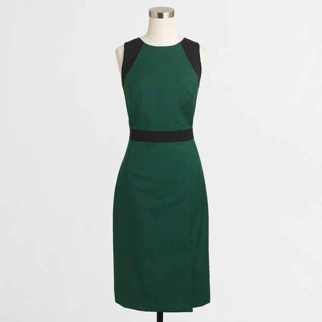 Factory colorblock seamed sheath dress